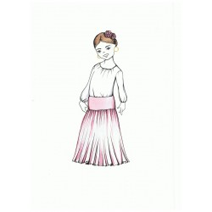 Falda de capa larga. NIÑA