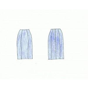 Patrón de falda base