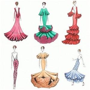 Patrón traje de flamenca a medida