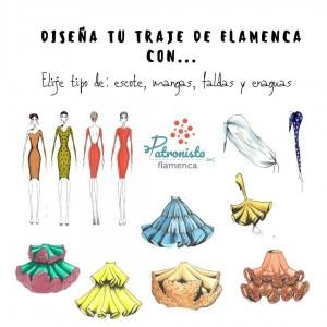 Diseña tu traje de flamenca