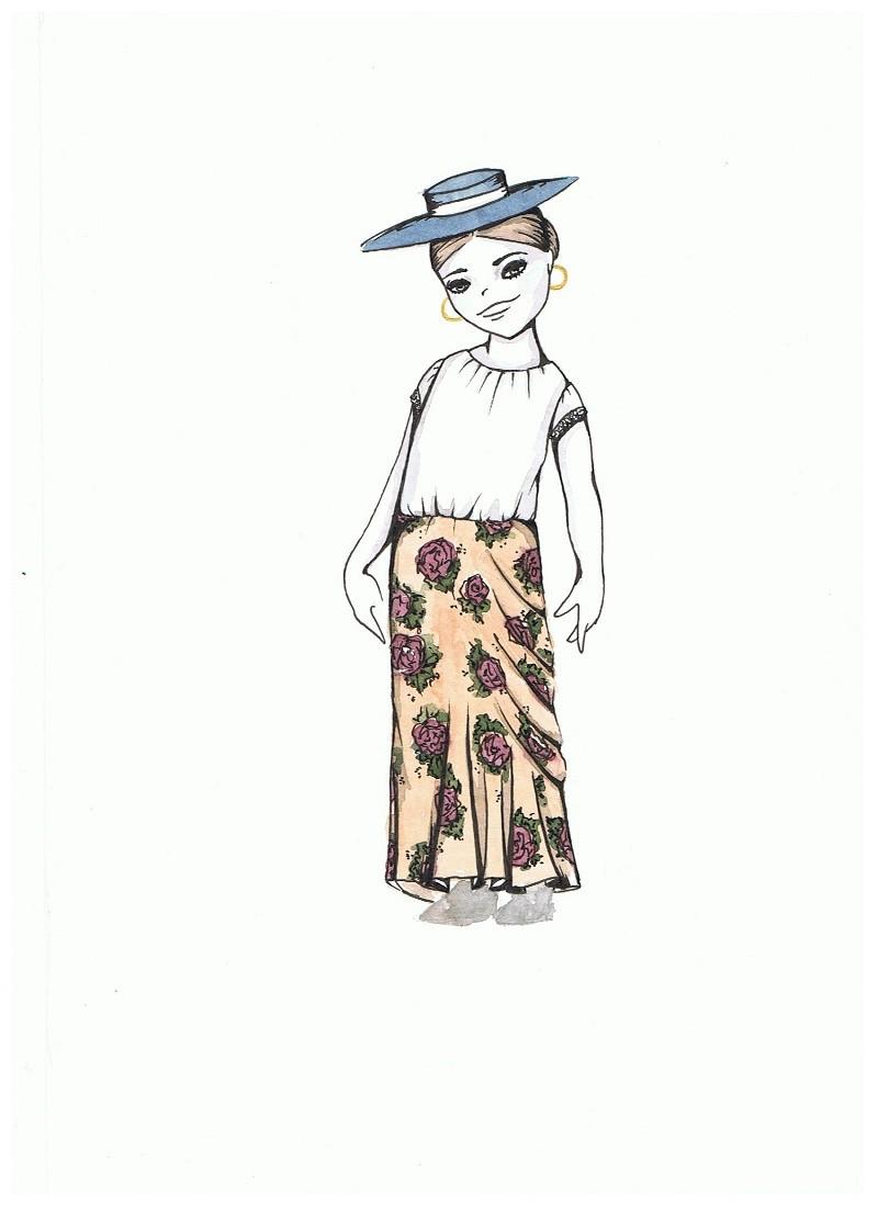 0d61e3345 patrón falda flamenca de volantes